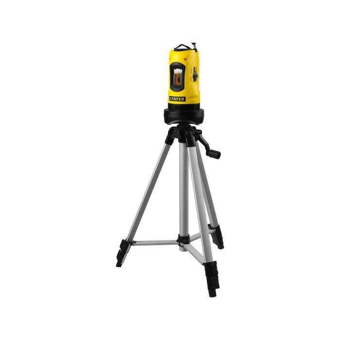 """Нивелир лазерный STAYER 34960-H2, SLL-2, линейный, 10 м, ± 0.5 мм/м, ± 4°, 5/8"""""""
