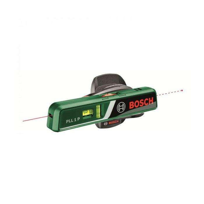 Лазерный линейный нивелир Bosch PLL 1P (0603663320), диапазон луч/точка 5/20 м, 1/4