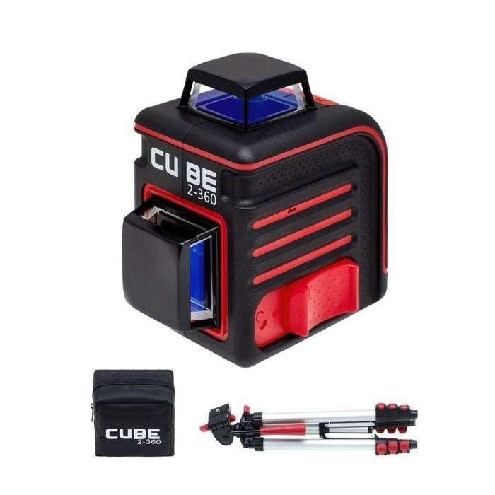 Нивелир лазерный ADA Cube 2-360 А00449 Professional Edition, 20/70м, ±3мм/10м, ±4°, 2х360°