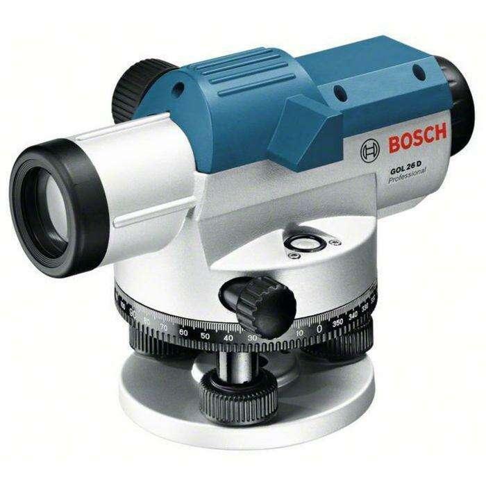Оптический нивелир BOSCH GOL 26 D (0601068000), до 100м, zoom 26x, IP54