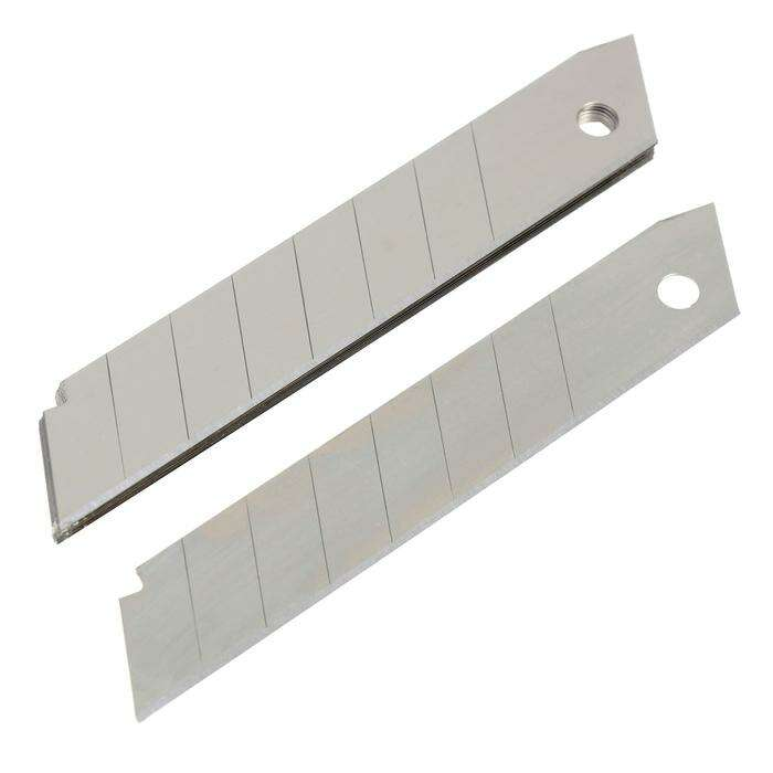 Лезвия для ножей TUNDRA basic, сегментированные, 18х0.4 мм, 10 шт.