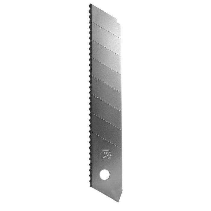 Лезвия для ножей Armero, 18х0.5 мм, сегментированное, с зубцами, 5 лезвий