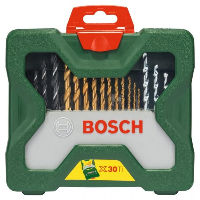 Набор сверл и бит  Bosch X-LINE-30 TITANIUM (2607019324), по дереву/металлу/камню, 31 шт.