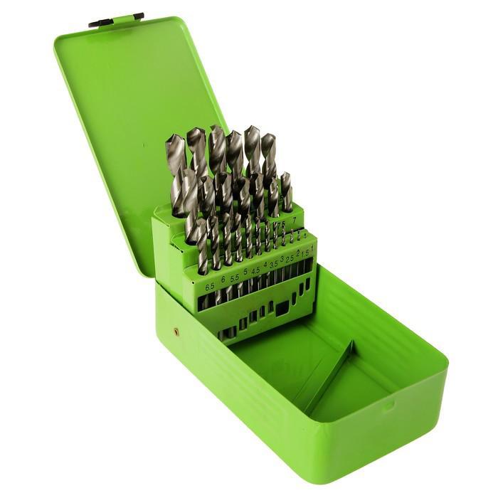 "Набор сверл по металлу ""СИБРТЕХ"", 1 - 13 мм, HSS, в металлической коробке, 25 шт"