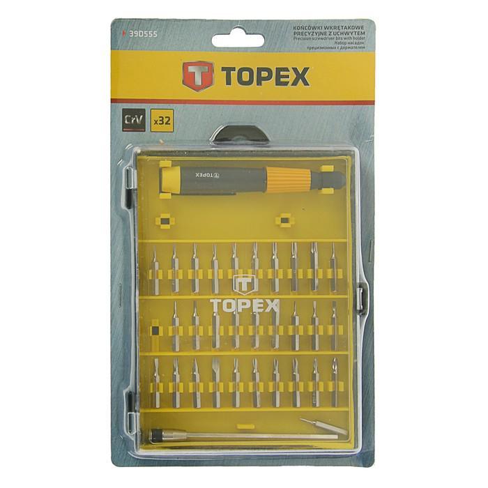 Насадки прецизионные с держателем TOPEX, набор 32 шт., удобная пласт. упаковка