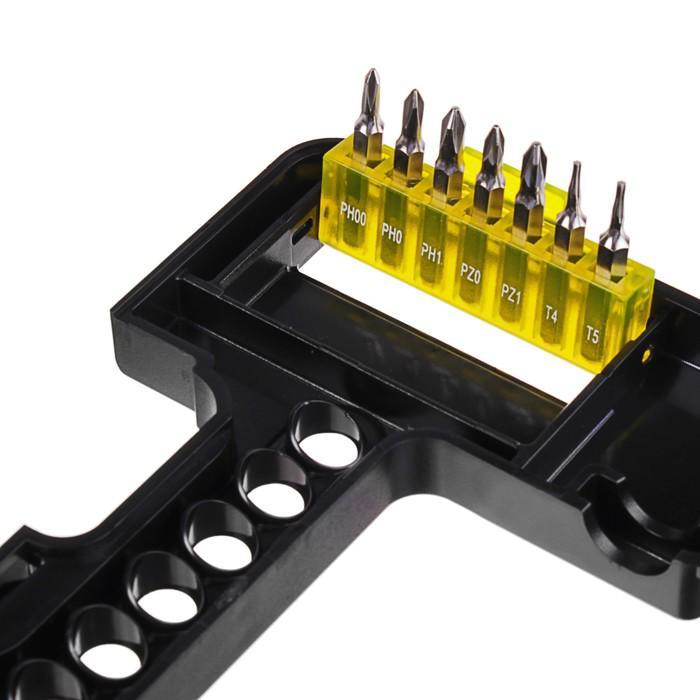 Отвертка с битами Topex, с торцевыми головками, в удобном пластиковом кейсе, 37 шт.