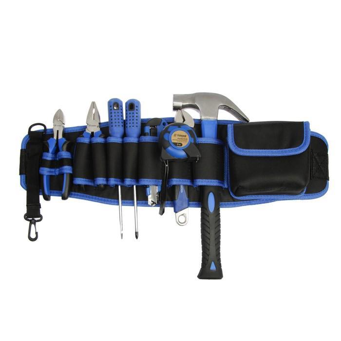 Набор инструментов TUNDRA comfort, универсальный, 8 предметов, сумка поясная