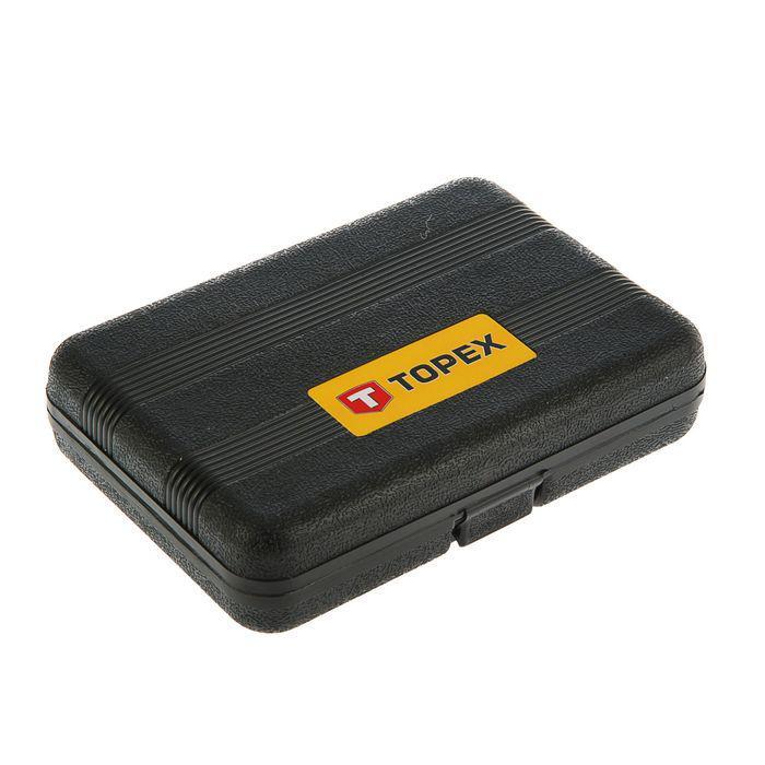 Набор инструмента TOPEX, 101 шт., биты, держатель, адаптеры, трещотка, в пластиковом кейсе