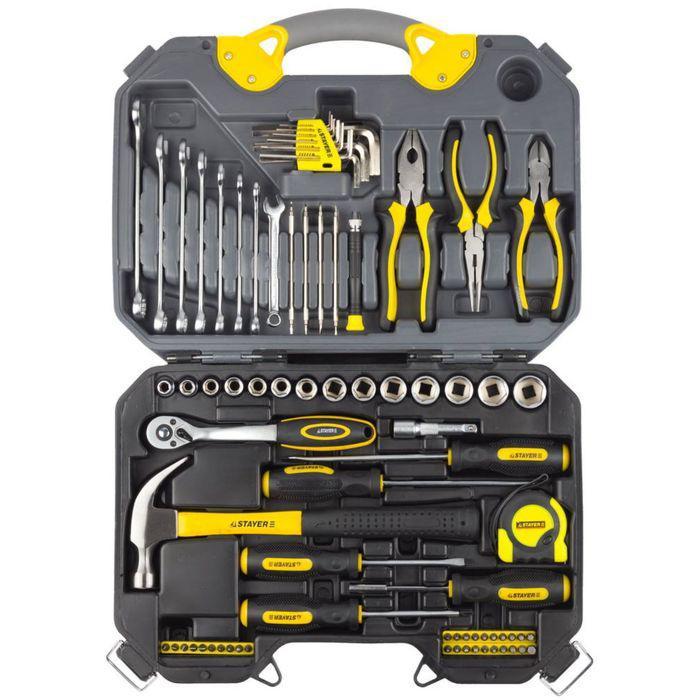 Набор инструментов STAYER PROFI 27710-H78, хромированное покрытие, 78 предметов