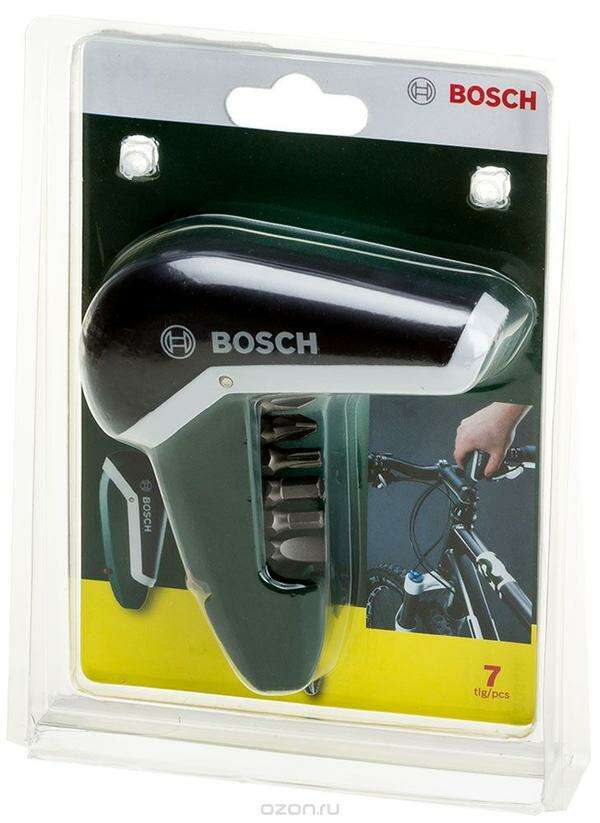 Биты для шуруповертов и торцовочные ключи Bosch Карманная отвертка с битами 7 шт