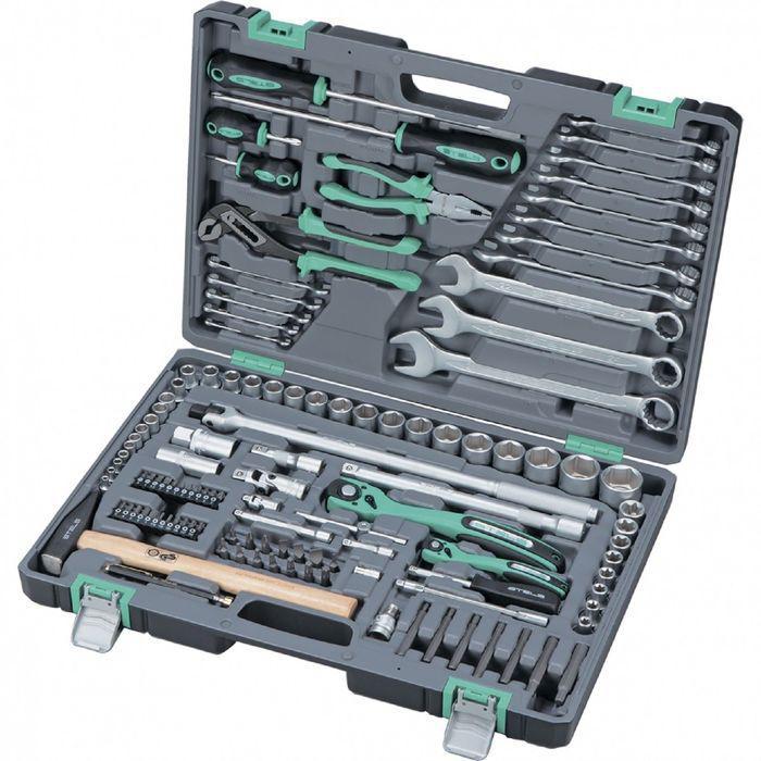 "Набор инструмента STELS 14112, 1/4"",  1/2"", 4-32 мм, усиленный кейс, 119 предметов"