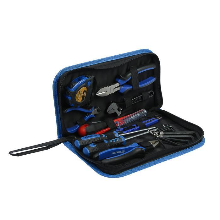 Набор инструментов TUNDRA comfort, слесарный, 11 предметов, кейс-папка