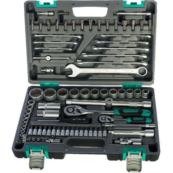 Набор инструментов Stels 82 предмета, 12 гранные головки