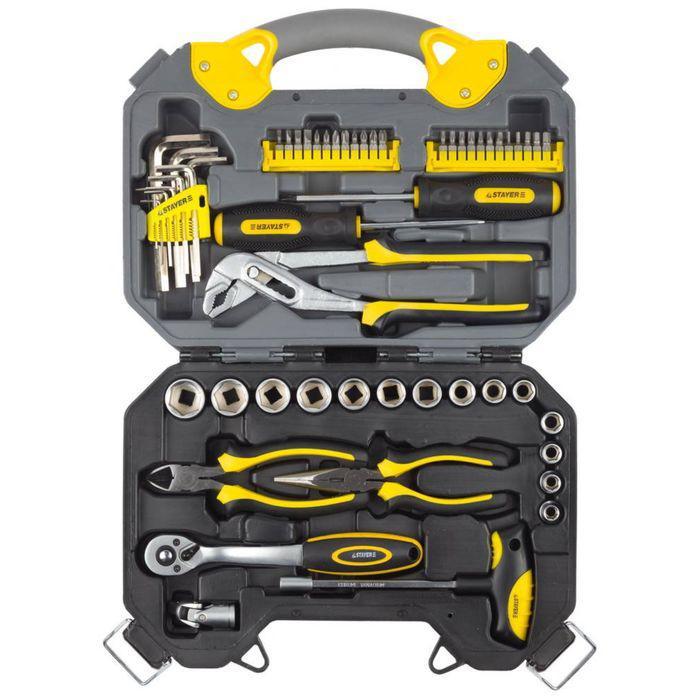 Набор инструментов STAYER PROFI 27710-H56, хромированное покрытие, 56 предметов