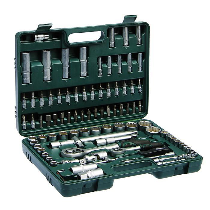Набор инструмента TUNDRA Premium, универсальный в кейсе, с 12-гранными головками, 94 пр.