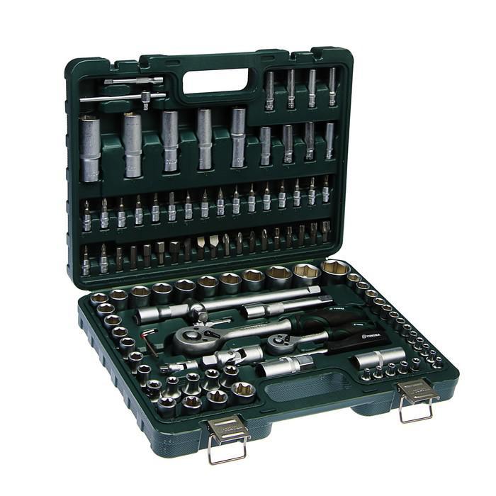Набор инструмента TUNDRA Premium, универсальный в кейсе, Crv, трещотки 72 зуба, 108 пр.
