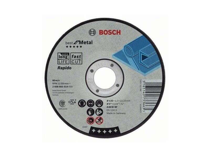 Отрезной круг Bosch Expert по металлу 125 х 1 ММ, прямой