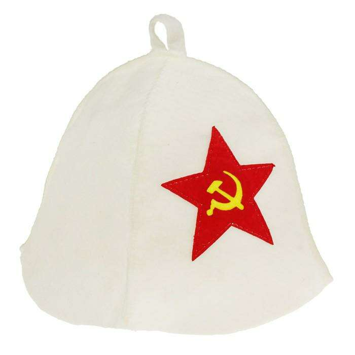 """Шапка банная """"Советская звезда"""""""