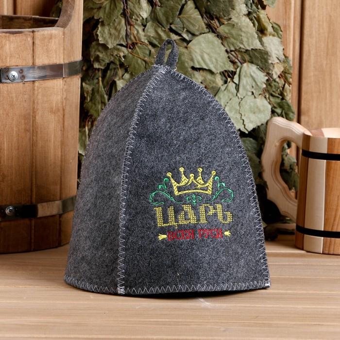 "Шапка банная с вышивкой ""Царь всея Руси"""