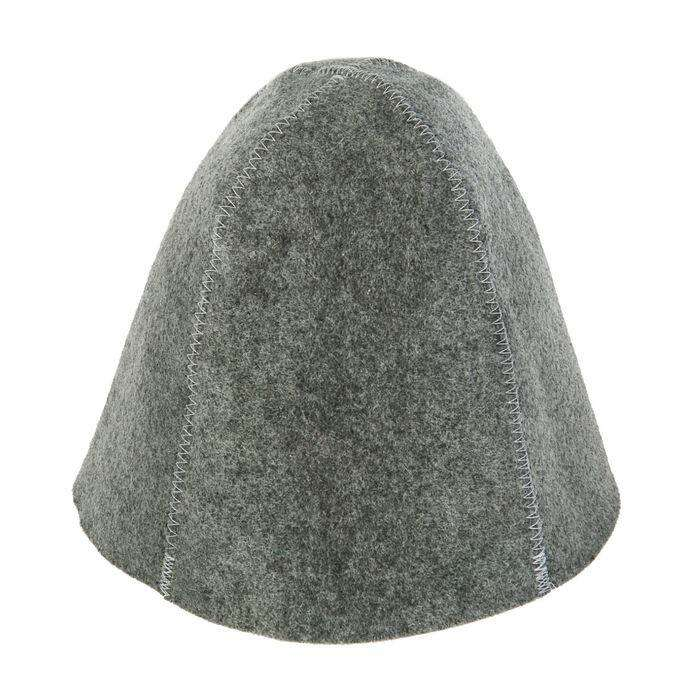 """Банная шапка """"Классическая"""", серая"""