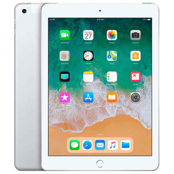 Планшет Apple iPad (2018) Wi-Fi + Cellular 128GB - Silver (MR732)