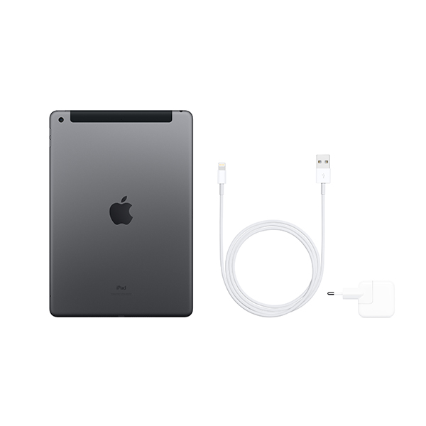 Планшет Apple iPad 10.2″ Wi-Fi + Cellular 128GB Space Grey (MW6E2)