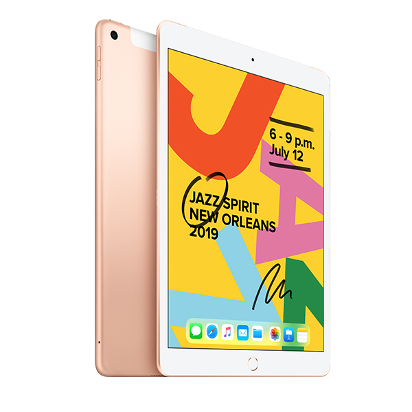 Планшет Apple iPad 10.2″ 128GB Wi-Fi + Cellular (MW6G2) Gold