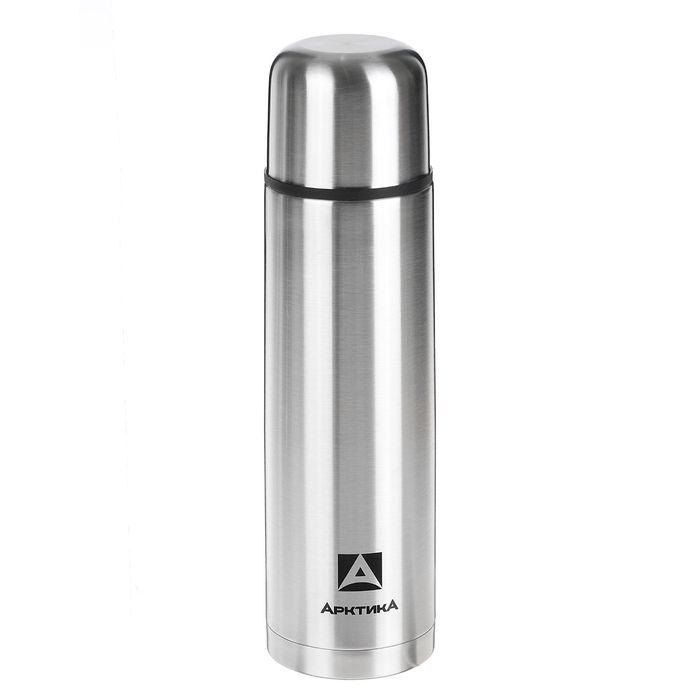 """Набор """"Арктика"""": термос вакуумный для напитков 1 л, 2 кружки невакуумные 300 мл, хром 1167142"""