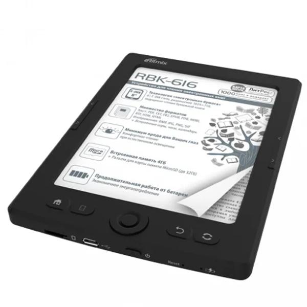 Электронная книга Ritmix RBK-616 (Черный)