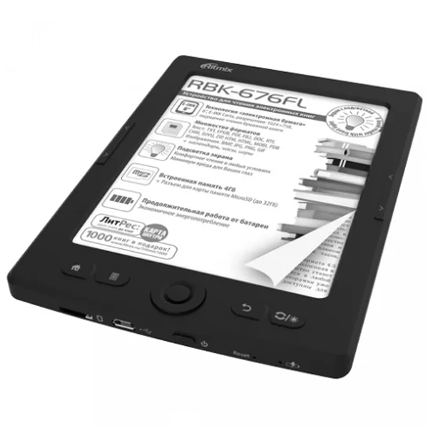 Электронная книга Ritmix RBK-676FL (Black)