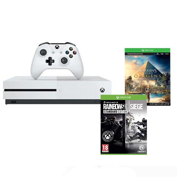 Игровая консоль Xbox Xbox One S1 ТБ + Assassin's Creed Origins+Tom Clancy's Rainbow Six Siege