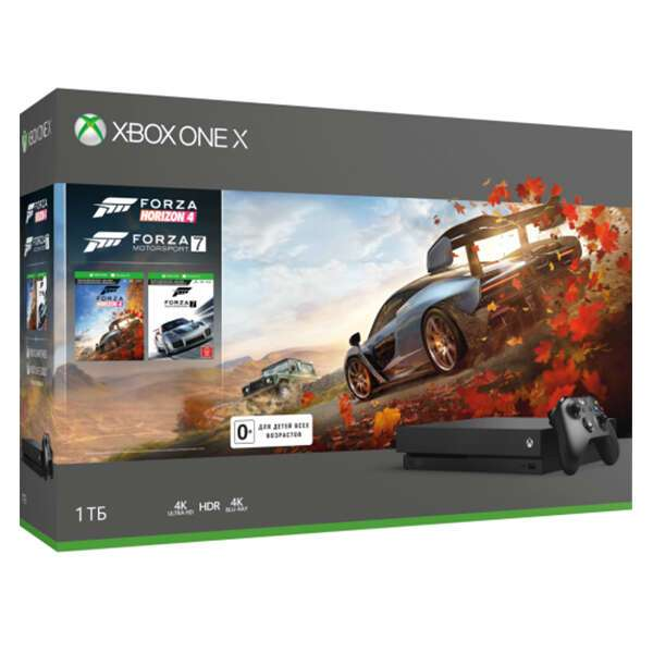 Игровая Консоль Xbox One X 1Тб в комплекте с 2 играми