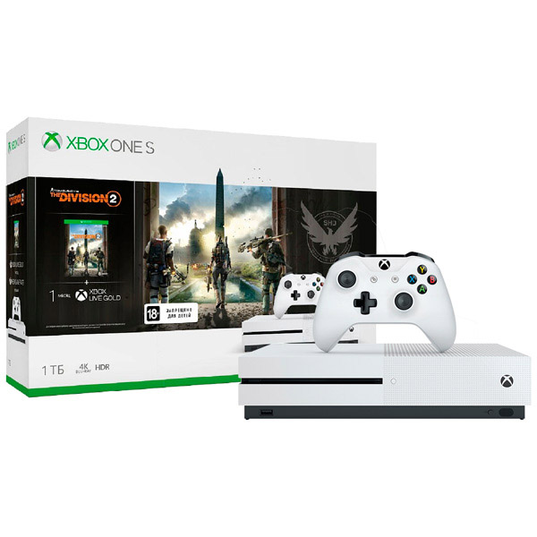 Игровая консоль Xbox One S 1 ТБ + Tom Clancy's The Division 2