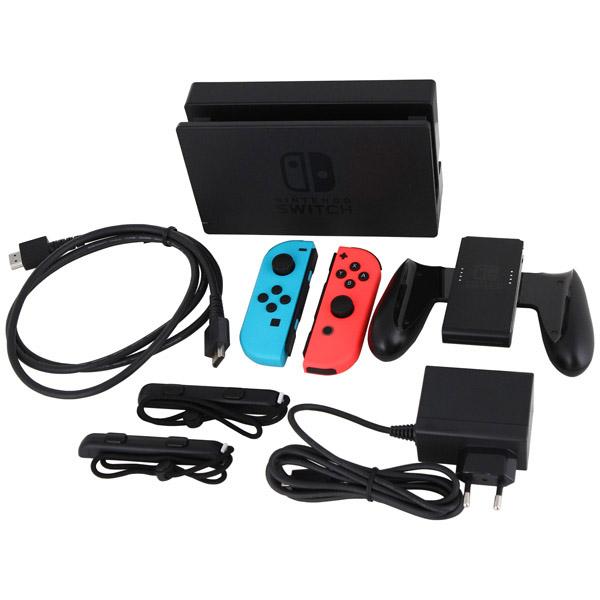 Игровая консоль Nintendo Switch (неоновый красный/неоновый синий) + Mario Kart 8 Deluxe