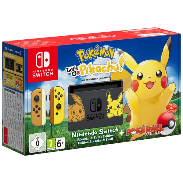 Игровая консоль Nintendo NS:Nintendo Switch Для Pokemon :Lets Go Pikachu Bundle