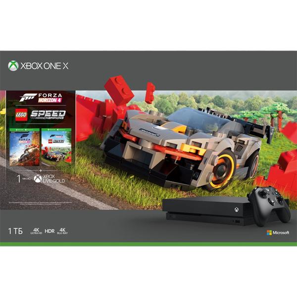 Игровая консоль Xbox One X 1TB + Forza Horizon 4 + Lego DLC