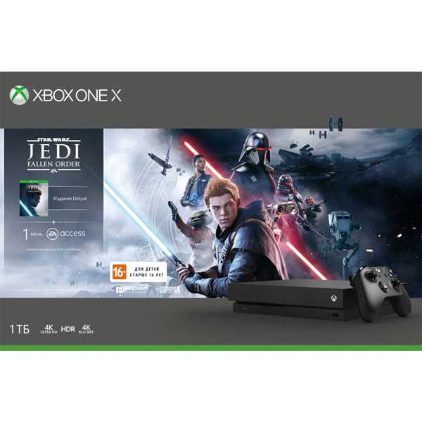 Игровая консоль Microsoft XBOX ONE X 1ТБ STAR WARS JEDI FALLEN ORDER (CYV-00421)