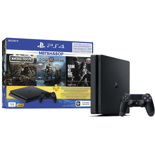 Игровая консоль Sony PS4 1TB DG/GOW/TLOU/PS+3M PS Plus (CUH 2208B)