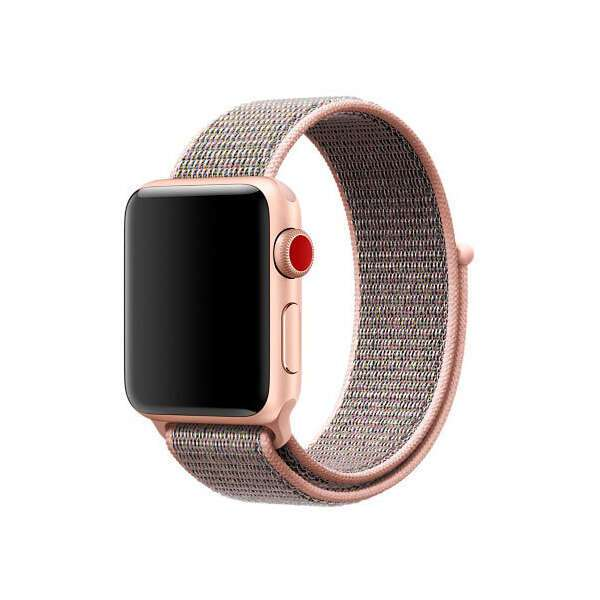 Ремешок для смарт-часов Apple Sport Loop (Pink Sand) MQW02 38mm