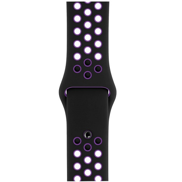 Ремешок Apple 40mm Black/Hyper Grape Nike Sport Band – S/M & M/L (MV7Y2)