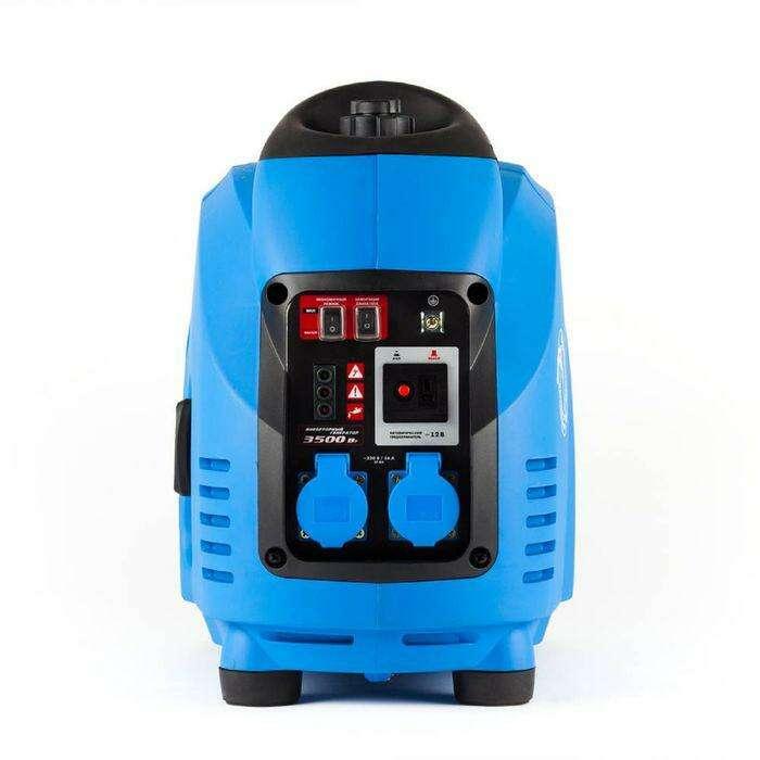 """Генератор """"ЗУБР"""" ЗИГ-3500, бензиновый, инверторный, 3/3.5 кВт, 220/12 В, 5.7 л"""