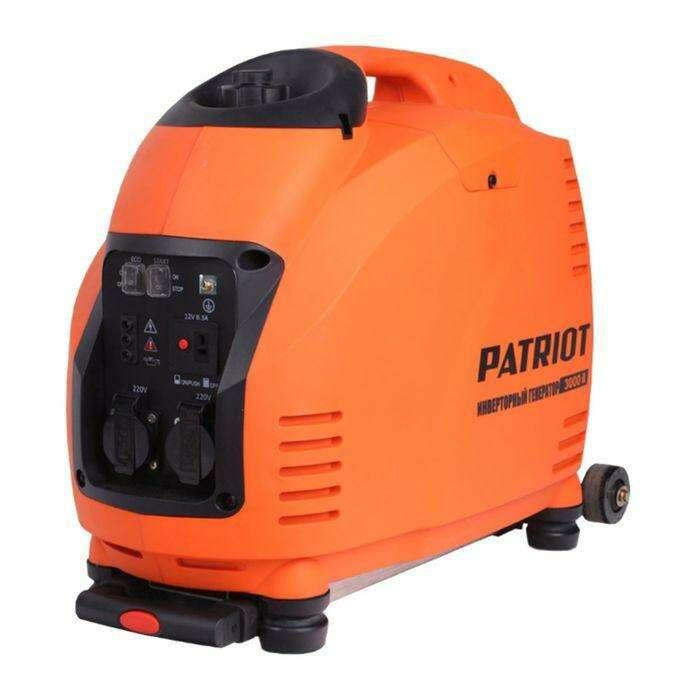 Генератор инверторный PATRIOT 3000il, 220В, 3.5 кВт, 5.7 л