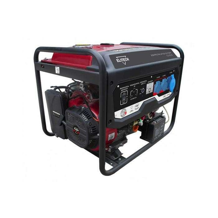 Генератор Elitech СГБ 9500Е, бензиновый, 4Т, 7.5 кВт, 17 л.с. ,439 см3, 25 л, эл.старт