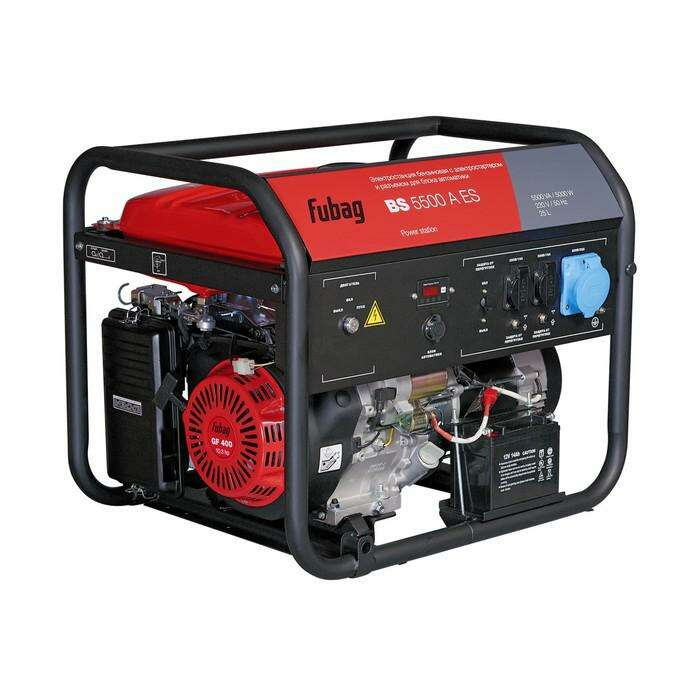 Генератор FUBAG BS 5500 A ES, бензиновый, 5/5.5 кВт, 220/12В, 25 л, электростартер