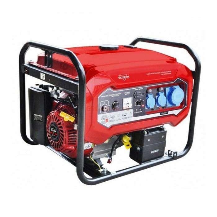 Генератор Elitech БЭС 6500 ЕАМ, бензиновый, 4 тактный, 5/5.5 кВт, эл.старт, 220/12 В