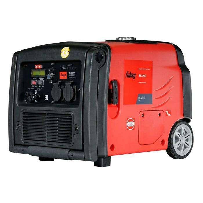 Генератор инверторный FUBAG TI 3200, 220/12 В, 3.2 кВт, 7.8 л
