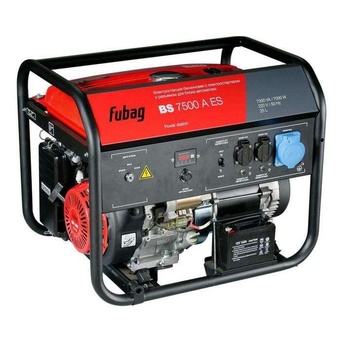 Генератор бензиновый FUBAG BS 7500 A ES, 220 В, 7.3 кВт, 25 л
