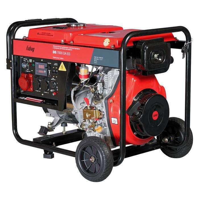 Генератор Fubag DS 7000 DA ES, дизель, 2х220В, 1х380В, 5 кВт, 7 кВА, бак 12.5л, электростарт   36126