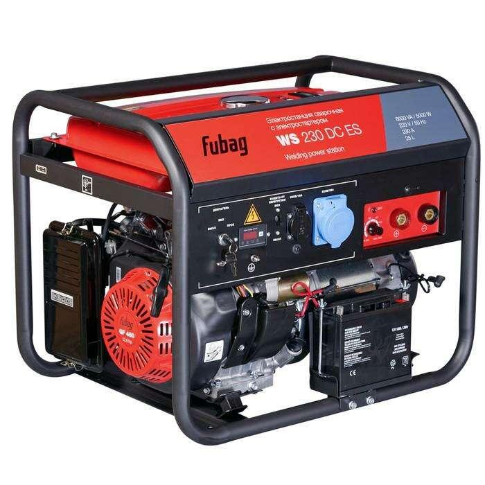 Генератор Fubag WS 230 DC ES, бенз., сварочный, 220В, 5 кВт, 50-230А