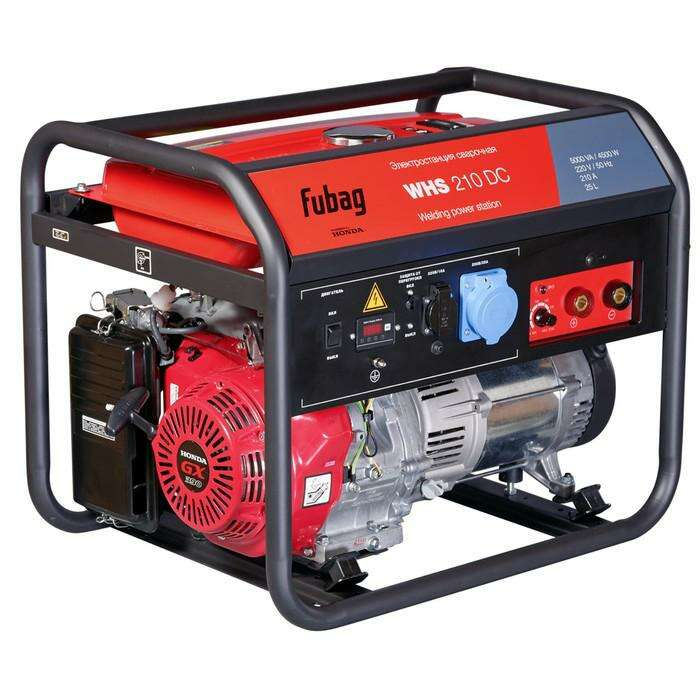 Генератор Fubag WHS 210 DC, бенз., сварочный, 4.5 кВт, 50-210А, 220В